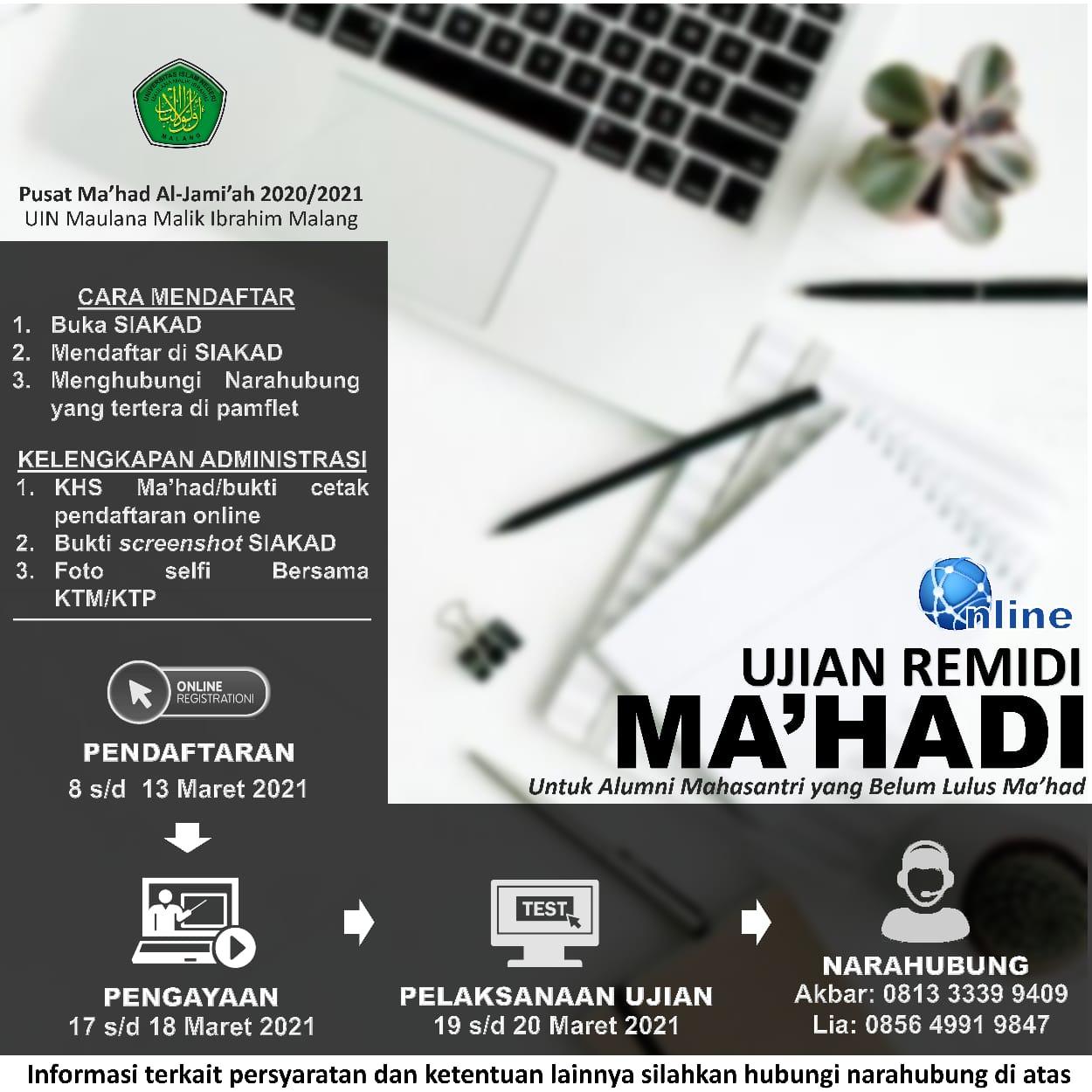 Ujian Remidi Ma'hadi