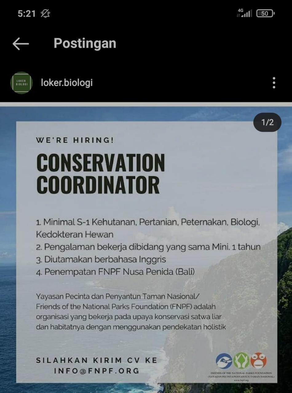 Conservation Coordinator