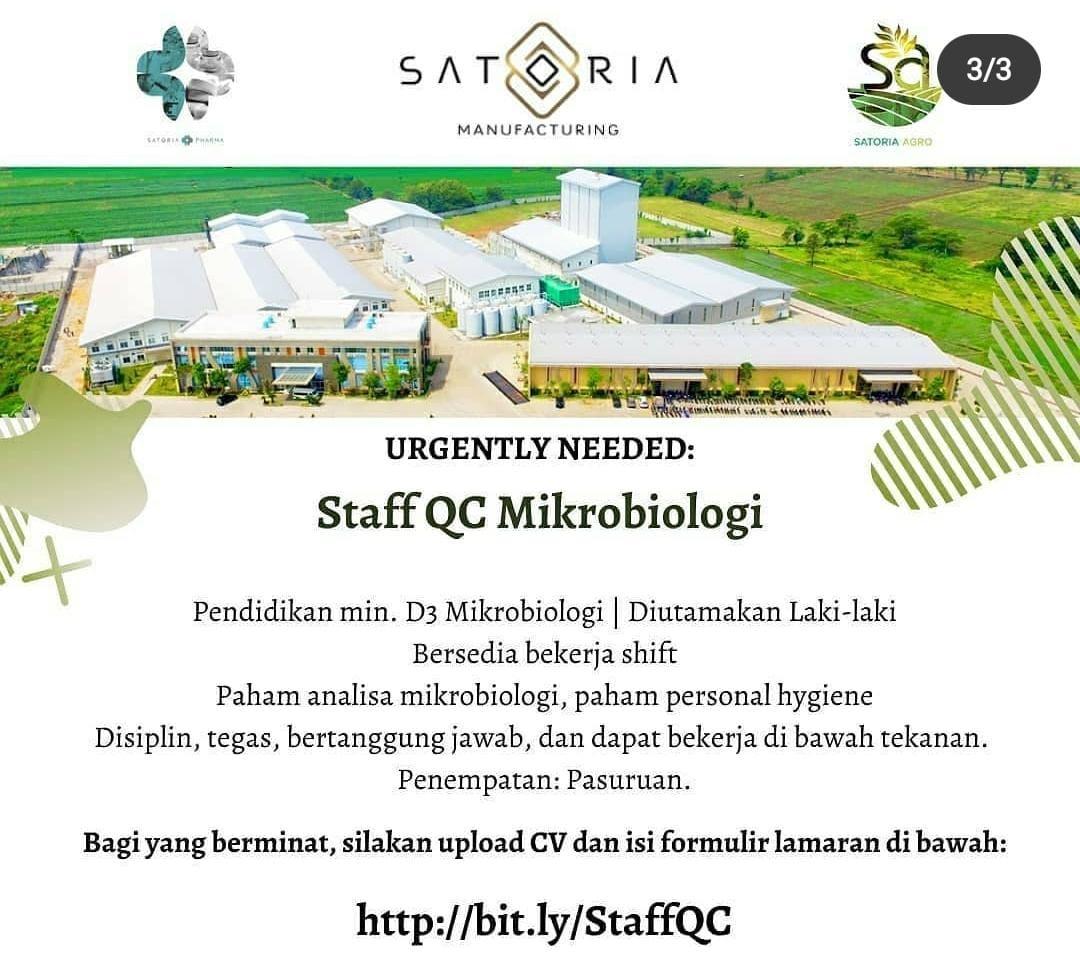 Lowongan kerja Sartoria Manufacturing