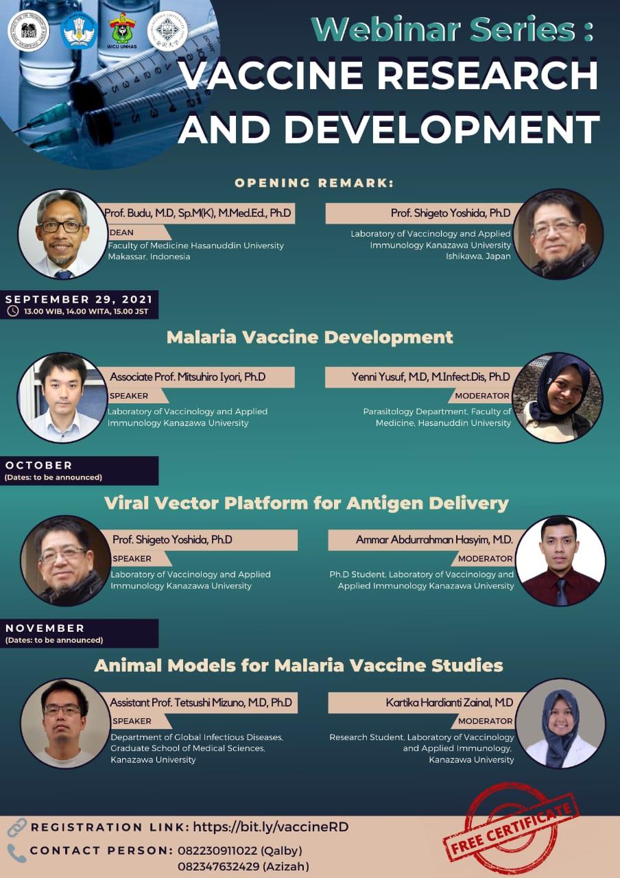 Webinar Series Vaccine Research and Development